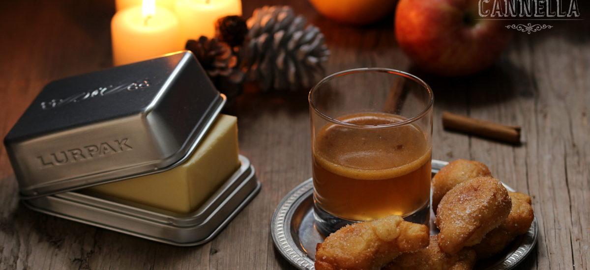 Rum caldo speziato – Hot Buttered Rum con frittelle di mele