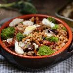 Insalata di farro invernale – con sardine di Anzio e broccoletti