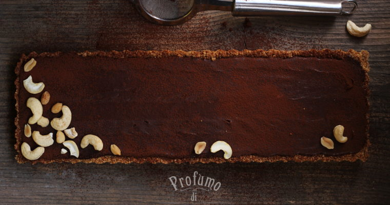 Crostata al cioccolato e mou – senza cottura