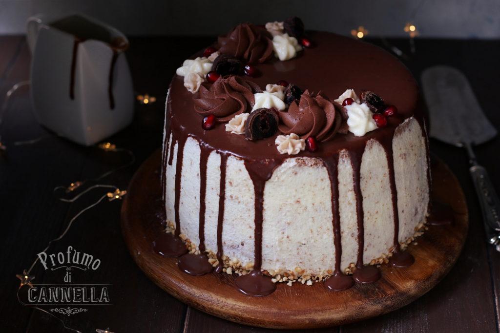 Drip cake con chiffon cake