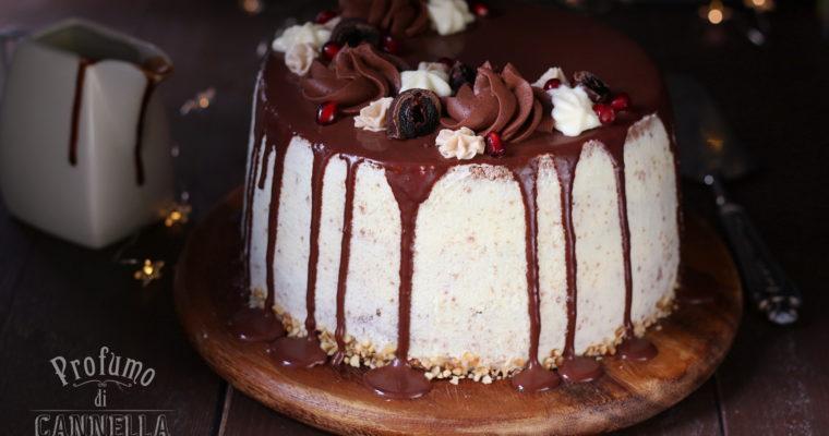 Drip cake doppio cioccolato e nocciole – auguri amore!