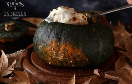 Pasta pasticciata alla zucca e formaggi – nella zucca
