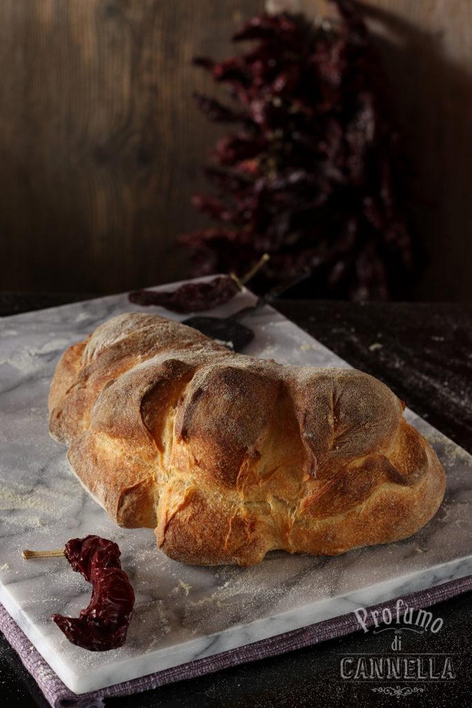 Pane di Matera con step di preparazione