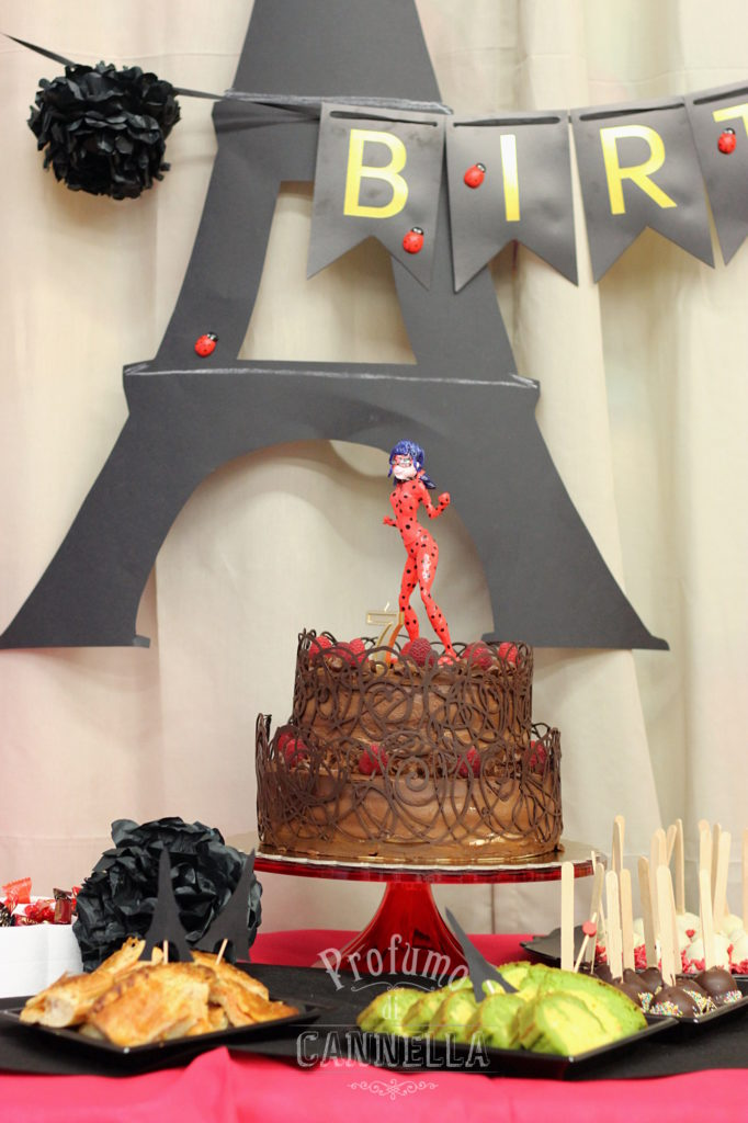Torta di compleanno ladybug