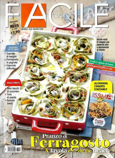 Copertina di facile cucina agosto