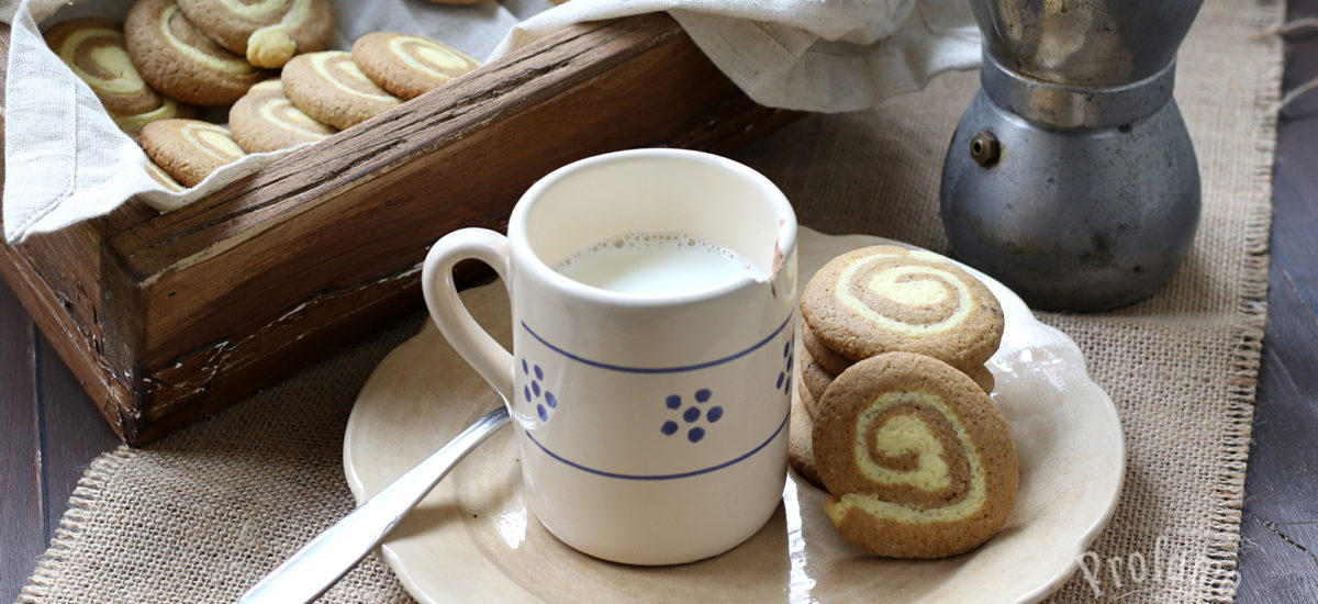 Biscotti al caffè – a forma di girandola