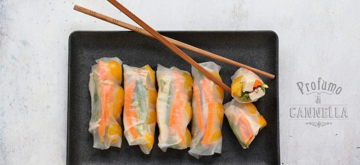 Involtini di carta di riso – senza frittura