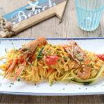 Tagliolini agli scampi e zucchine