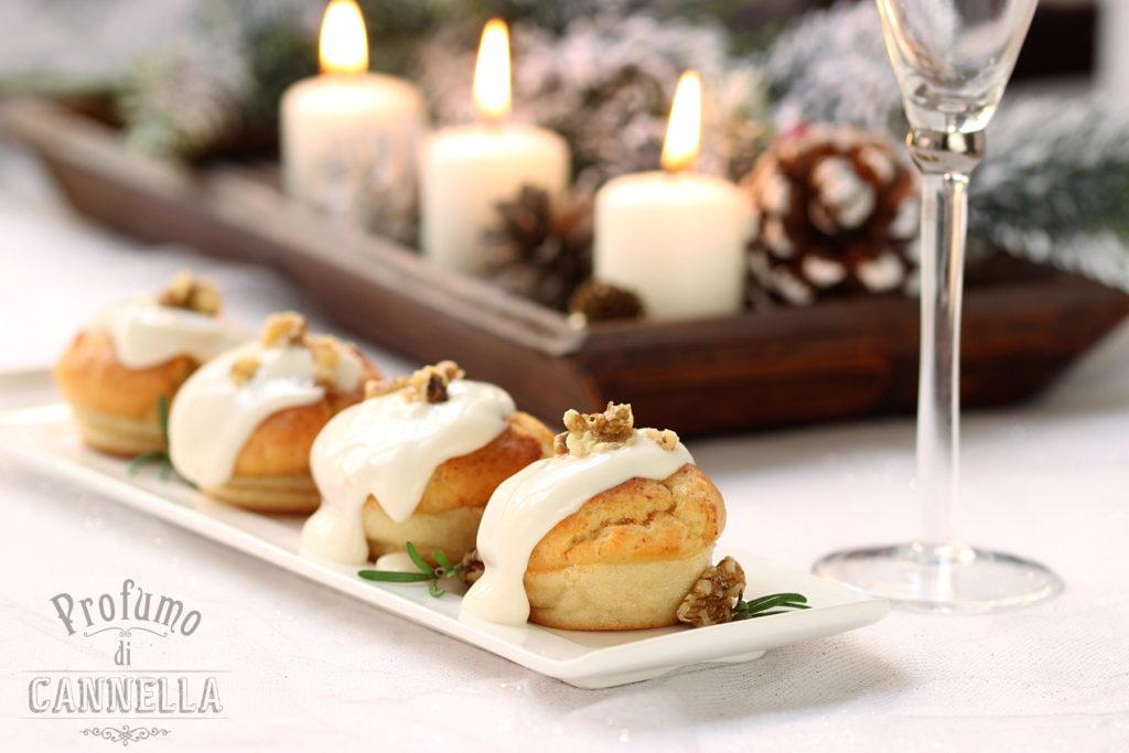 Muffin salati per aperitivo natale