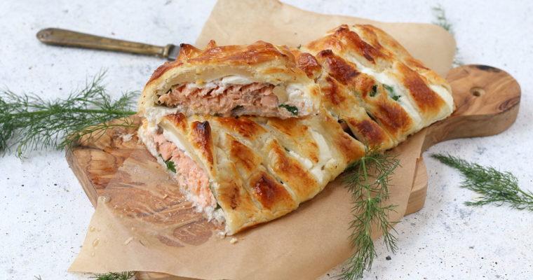 Salmone in crosta – con ricotta e spinacini