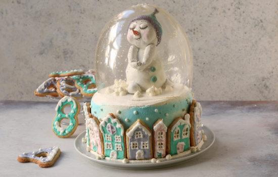 Torta inverno – con effetto snow globe