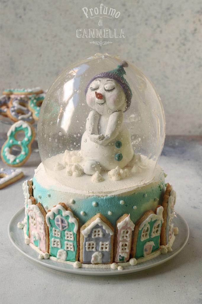 Torta snow globe