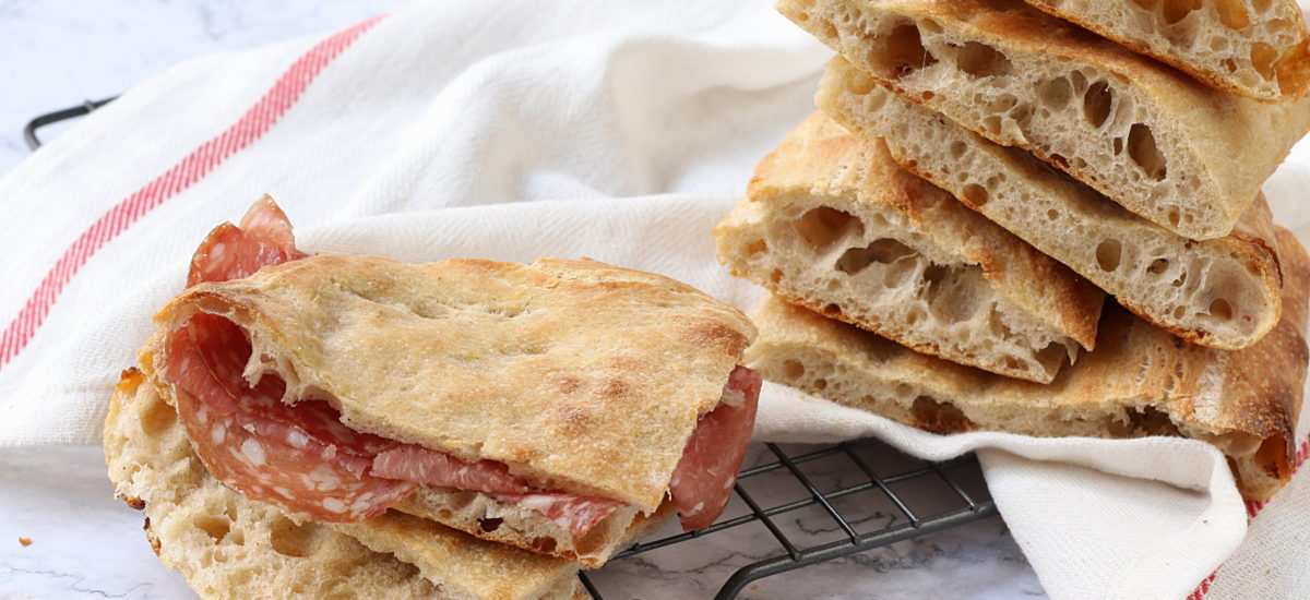 Pizza bianca – alveolata e croccantina
