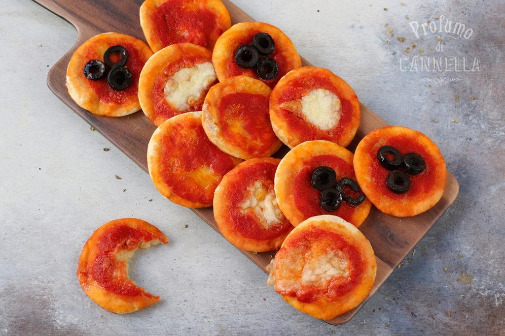 Pizzette istantanee senza lievito