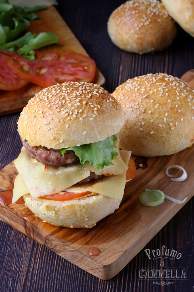 Burger buns all'olio