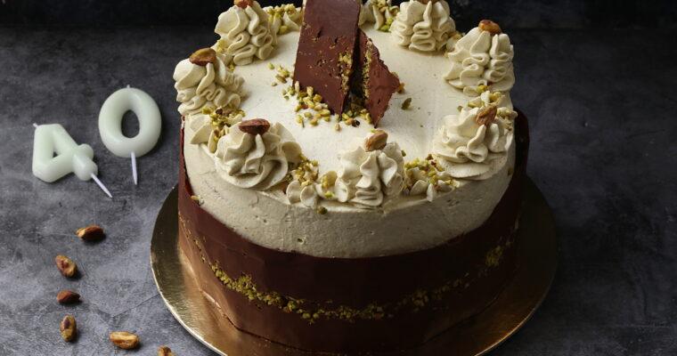 Torta Fedora con mousse al pistacchio – 40 anni speciali