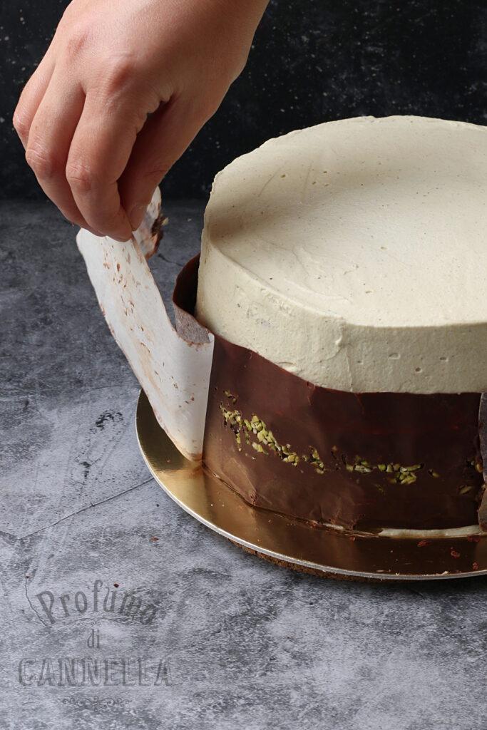 applicare la fascia di cioccolato
