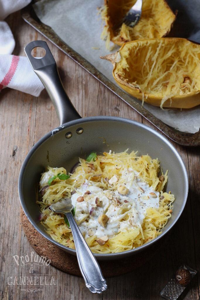 Spaghetti di zucca al gorgonzola