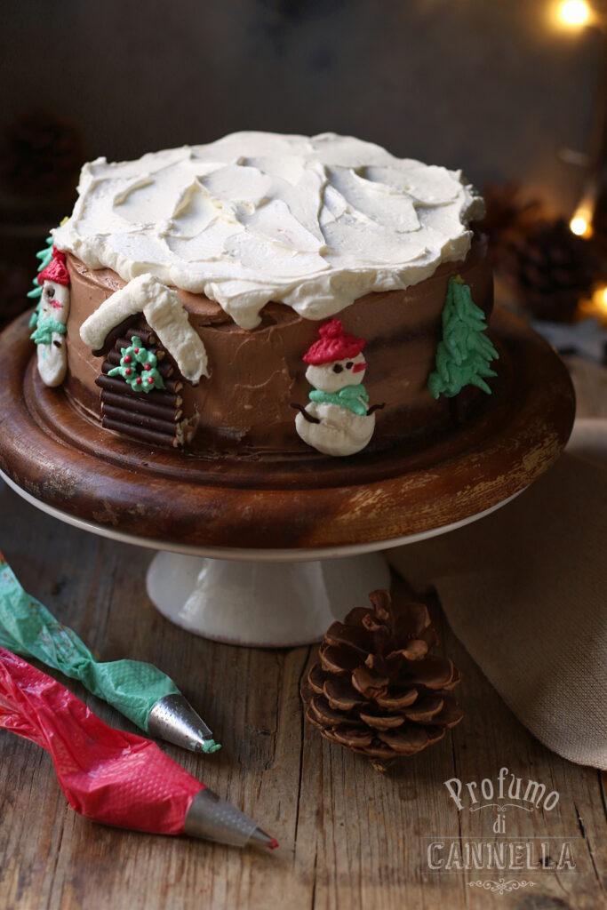 torta decorata di Natale