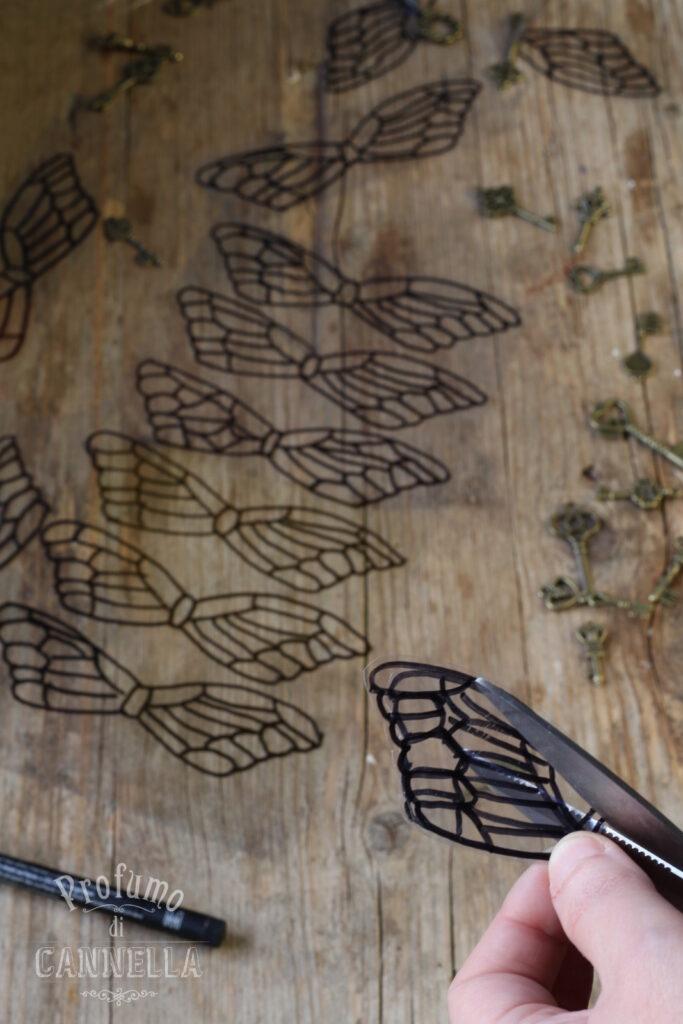 Incidere le ali per le chiavi volanti