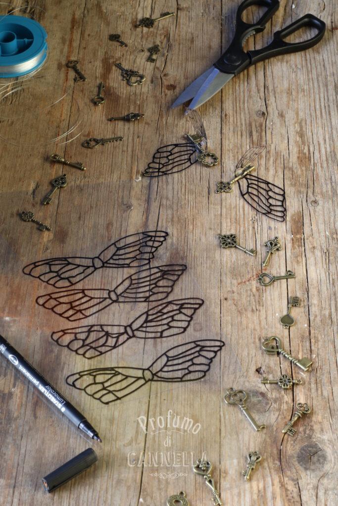 disegnare le ali delle farfalle