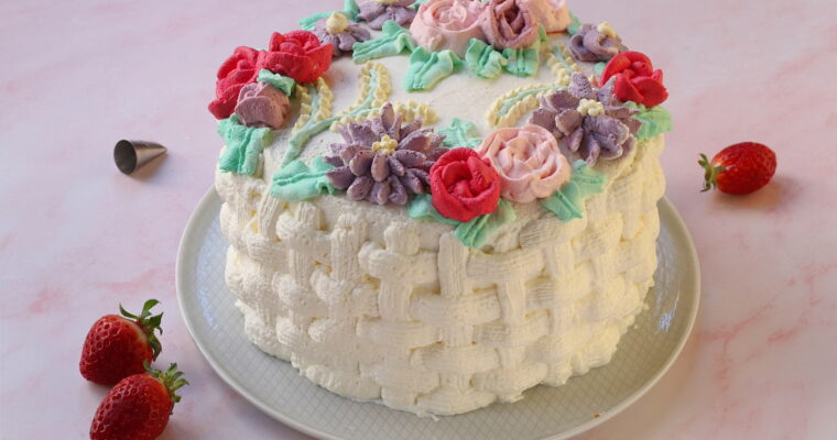 Torta alle fragole e mascarpone – in stile Flower Cake