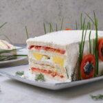 Torta tramezzino o sandwich cake – con maionese senza uova